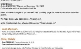 Truffa online, la falsa email di Amazon con malware