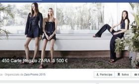 Carta regalo Zara da 500 euro: la nuova bufala Facebook