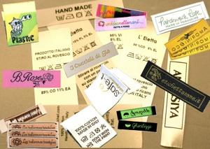 etichette per i vestiti