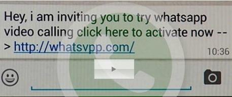 Messaggio videochiamate Whatsapp