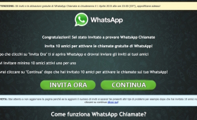 Whatsapp chiamate gratis truffa con link mangia-soldi