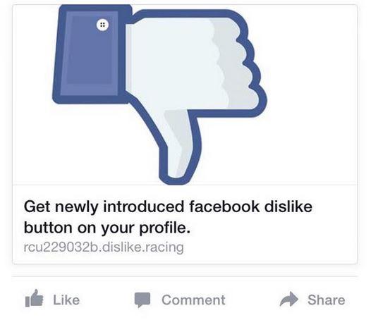 truffa non mi piace facebook