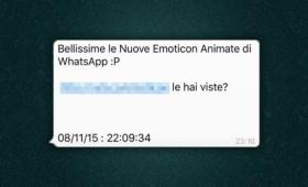 Truffa via Whatsapp sulle emoticon enimate