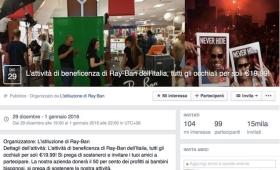 Nuova truffa su Facebook: il virus degli occhiali Ray-Ban