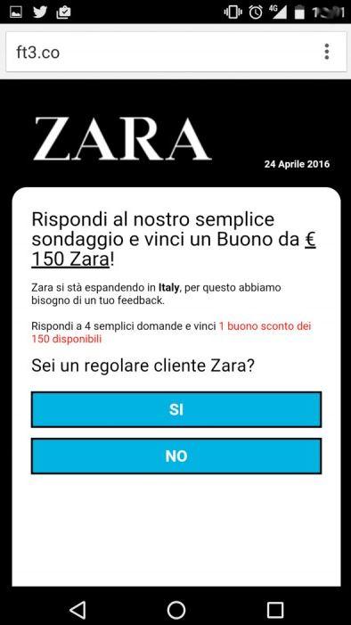 Whatsapp news 2016 la truffa dei buoni acquisto Zara