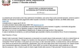Pishing: la falsa email di arresto dalla Procura della Repubblica