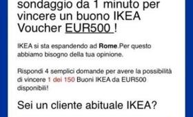 Whatsapp: la truffa del finto buono Ikea da 500 euro