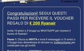 Truffa Ryanair via Whatsapp, rischio blocco dello smartphone